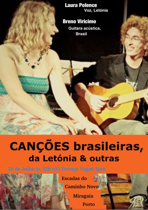 Canções Brasileiras, da Letónia & outras @ O Terraço Vegan Spot